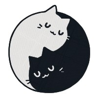 Yin Yang Cat Single