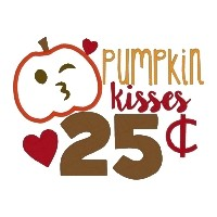 Pumpkin Kisses Applique'  and fill
