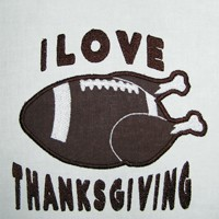 Football Thanksgiving Appliqué
