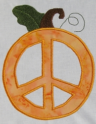 Peace Pumpkin Applique'