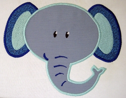 Elephant Head Appliqué