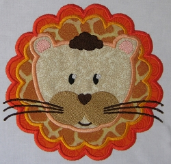 Lion Head Appliqué