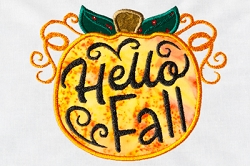 Hello Fall Applique