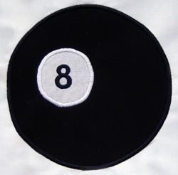 Eight Ball Appliqué
