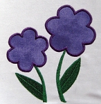 Two Flowers Appliqué