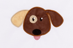 Dog Head Appliqué