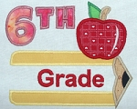 Pencil Split Applique Grade 6