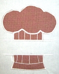 Split Chefs Hat Applique