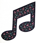 Musical Note Applique