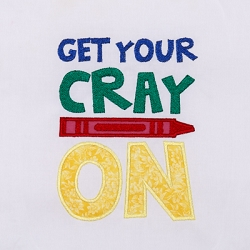 Get Your CrayOn Applique