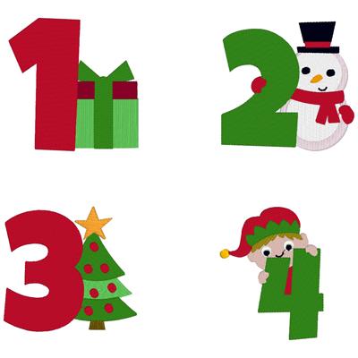 Christmas Numbers Set