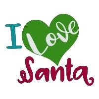 I Love Santa Christmas Single