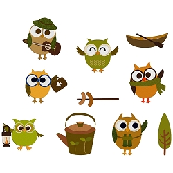 NEW: Camping Owls Set