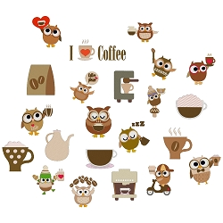 Coffee Owl Set