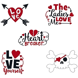 Valentine Words Set