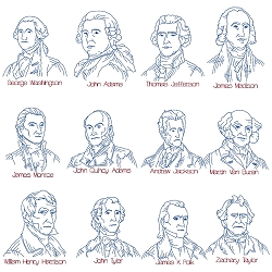 U.S.Presidents Line Art Set