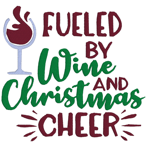 Fueled by Wine and Christmas Cheer Wine Single