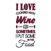 I Love Cooking With Wine Single