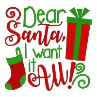 Dear Santa I Want it All Single