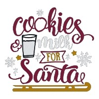 Cookies & Milk for Santa Single