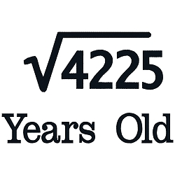 Square Root Birthday 65