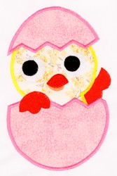 Chick in Egg Appliqué