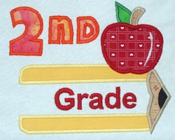Pencil Split Applique Grade 2