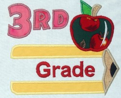 Pencil Split Applique Grade 3
