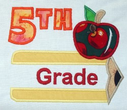 Pencil Split Applique Grade 5