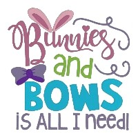 Bunnies & Bows is all I Need Single