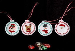 Christmas Candy Holder Ornaments ITH
