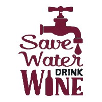 Save Water Drink Wine Single