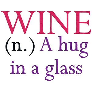 A Hug in a Glass Wine Single
